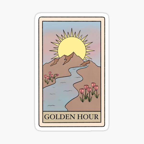 Golden Hour Kacey Tarot Card Sticker