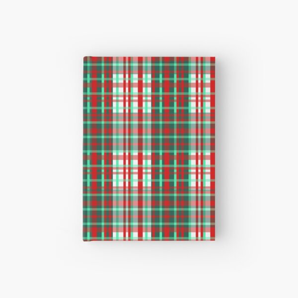 1000 Shades of Candy Cane Tartan   Hardcover Journal