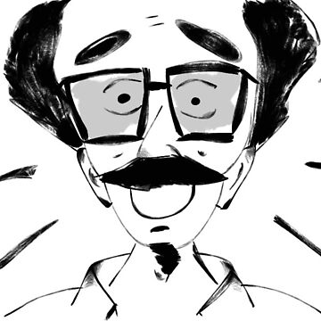 Astonished man with great glasses by apech