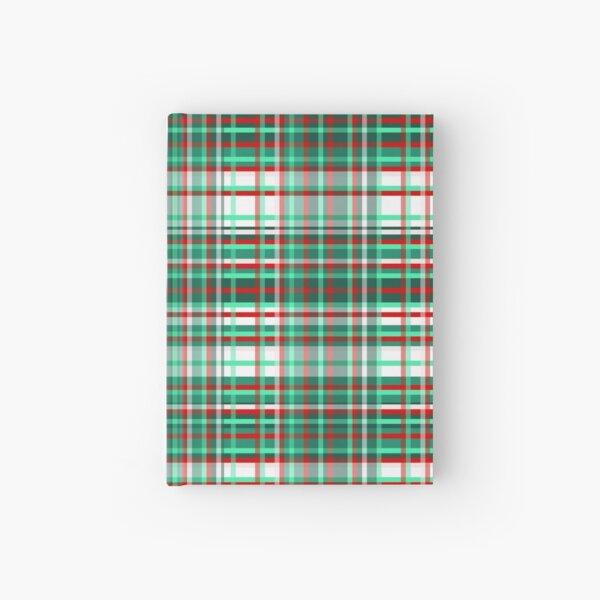 1000 Shades of Peppermint Stick Tartan   Hardcover Journal