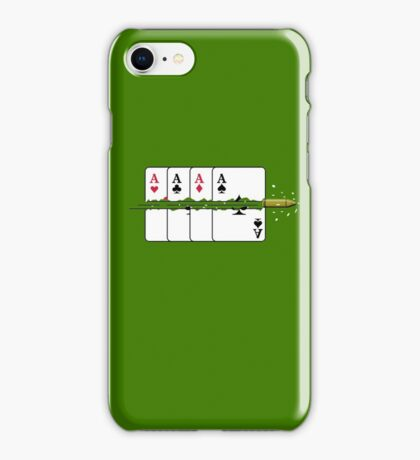 Shoot the Deck of Cards VRS2 iPhone Case/Skin