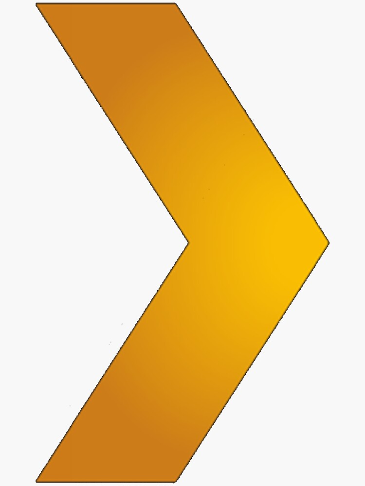 Plex Orange Arrow Logo by Serendipitous71