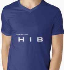 2001 A Space Odyssey - HAL 9000 HIB System Mens V-Neck T-Shirt