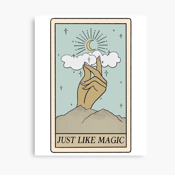 Carte de tarot Ariana Just Like Magic - Ombre 2 Impression sur toile