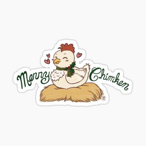 Merry Chimken! Sticker