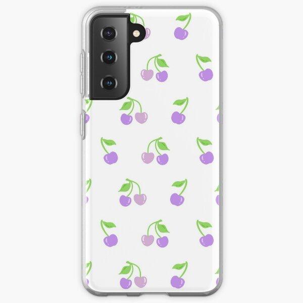 Purple Cherries Pattern Samsung Galaxy Soft Case
