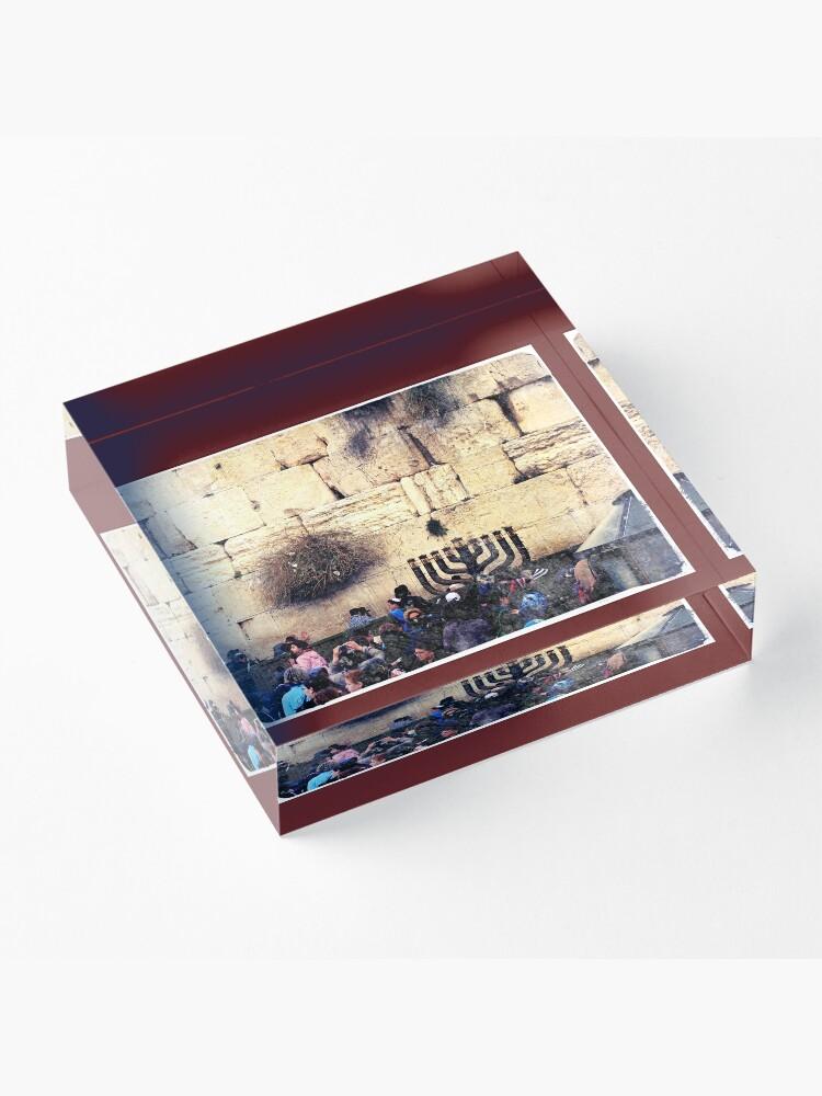 Alternate view of Western wall, Wailing wall, Israel, Holy land, Hanukkah, Chanukah, Post card of Jerusalem  Acrylic Block