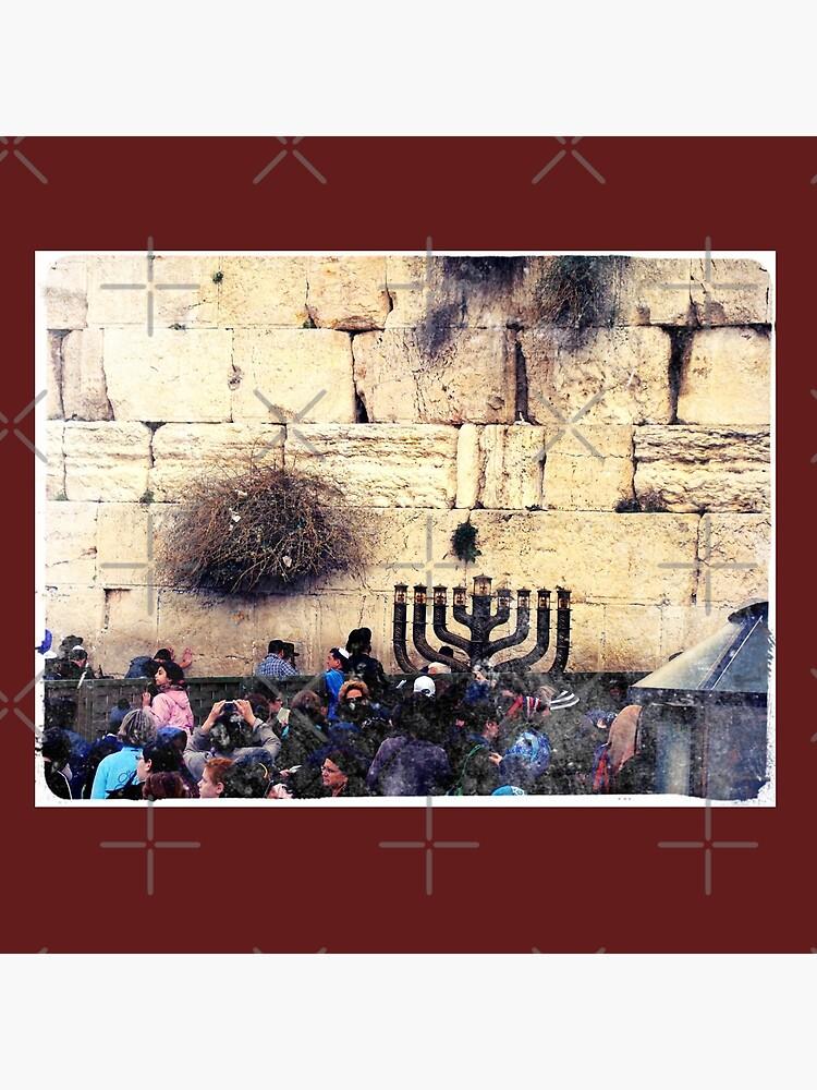 Western wall, Wailing wall, Israel, Holy land, Hanukkah, Chanukah, Post card of Jerusalem  by PicsByMi