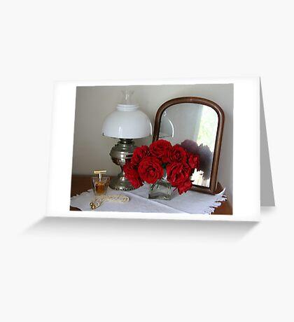 Boudoir roses Greeting Card