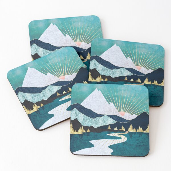 Winter River Coasters (Set of 4)