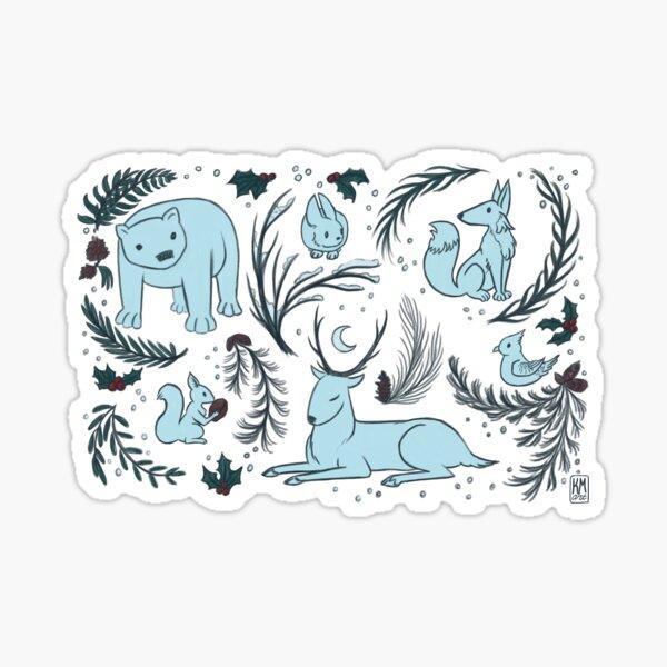 Winter Animals Sticker
