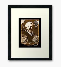 Jules Verne Tribute Framed Print