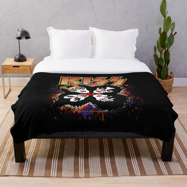 KISS ® the Band - Rock and Roll Over Splash Logo Throw Blanket