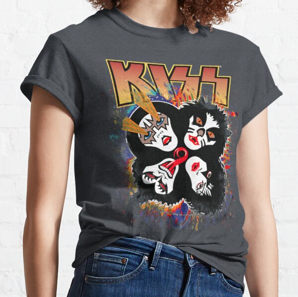 KISS ® the Band - Rock and Roll Over Splash Logo Classic T-Shirt
