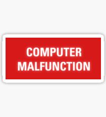 2001 A Space Odyssey - HAL 9000 Computer Malfunction Sticker
