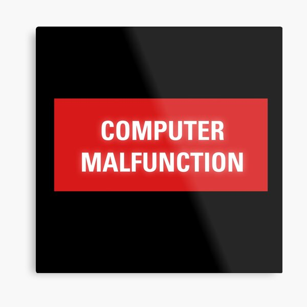2001 A Space Odyssey - HAL 9000 Computer Malfunction Metal Print