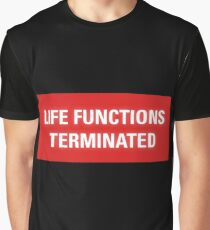 2001 A Space Odyssey - HAL 9000 Life Functions Terminated Error Graphic T-Shirt
