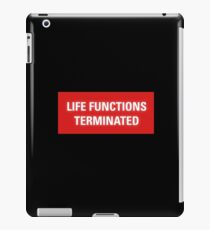 2001 A Space Odyssey - HAL 9000 Life Functions Terminated Error iPad Case/Skin