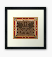 Route 66 america highway USA historic Framed Print