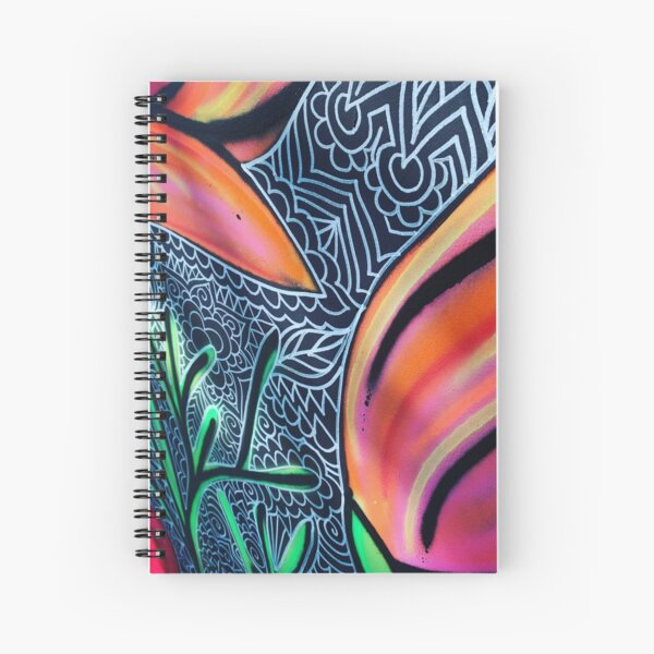 Henna Poppies Spiral Notebook