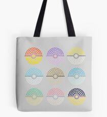 Eeveelution Pokeballs (Light) Tote Bag