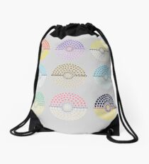 Eeveelution Pokeballs (Light) Drawstring Bag