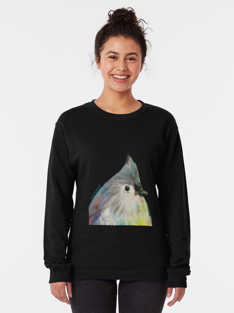 Alternate view of Tufted Titmouse Bird Pullover Sweatshirt