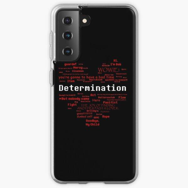 Undertale Word Heart Samsung Galaxy Soft Case
