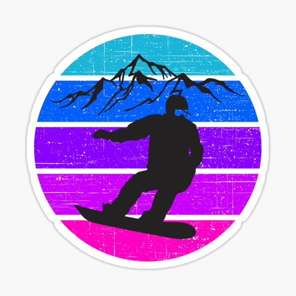 Snowboarding, great gift for snowboard lovers Sticker