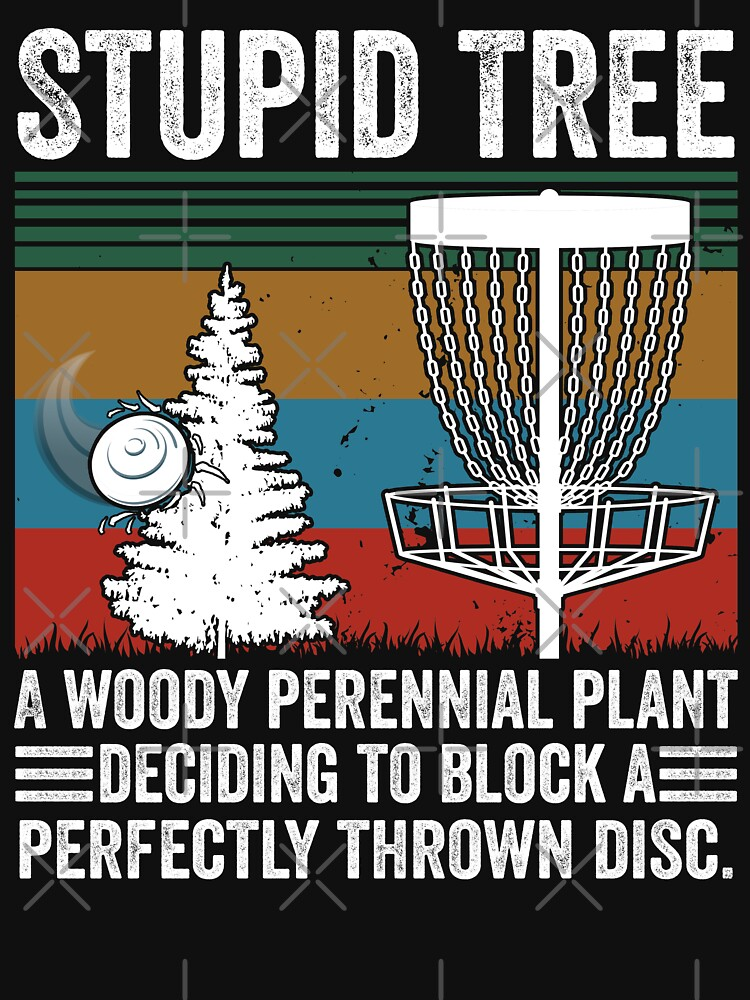 Stupid Tree Funny Vintage Disc Golf Gift by ABDOFIZA
