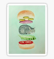 Catsup - Cat Burger Delight! Sticker