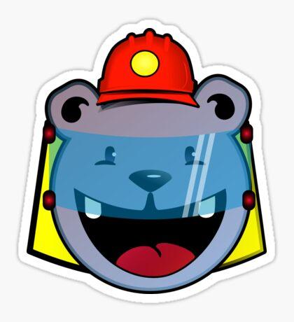 Koala bear fireman VRS2 Sticker