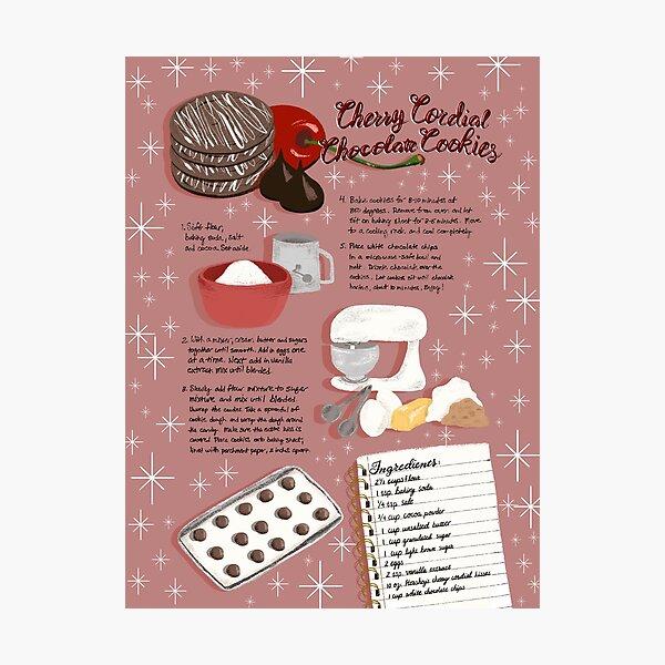 Cherry Cordial Chocolate Cookies Photographic Print