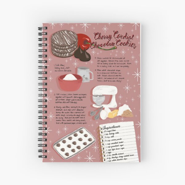 Cherry Cordial Chocolate Cookies Spiral Notebook