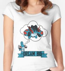 Mudkip Dream Big Women's Fitted Scoop T-Shirt