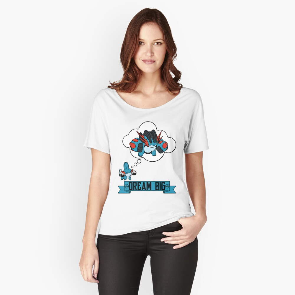 Mudkip Dream Big Women's Relaxed Fit T-Shirt Front