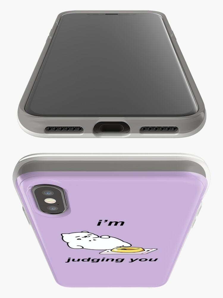 Alternative Ansicht von Neko Atsume - Tubbs (Ich verurteile dich) iPhone-Hülle & Cover