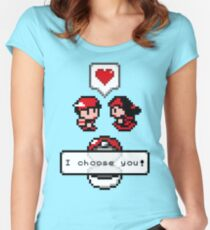 Pokemon Valentine I Choose You!  Women's Fitted Scoop T-Shirt