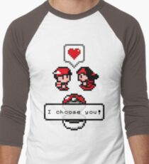 Pokemon Valentine I Choose You!  Men's Baseball ¾ T-Shirt