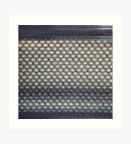 Hexagon mesh 3 - Phlox Art Print