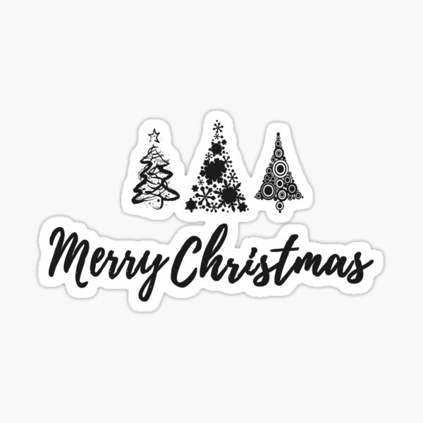Merry Christmas Trees Sticker