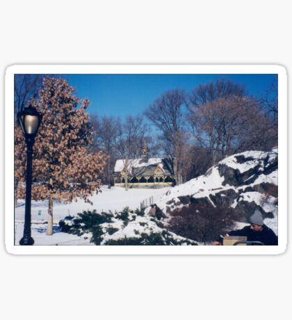 Central Park, Winter View, New York City Sticker