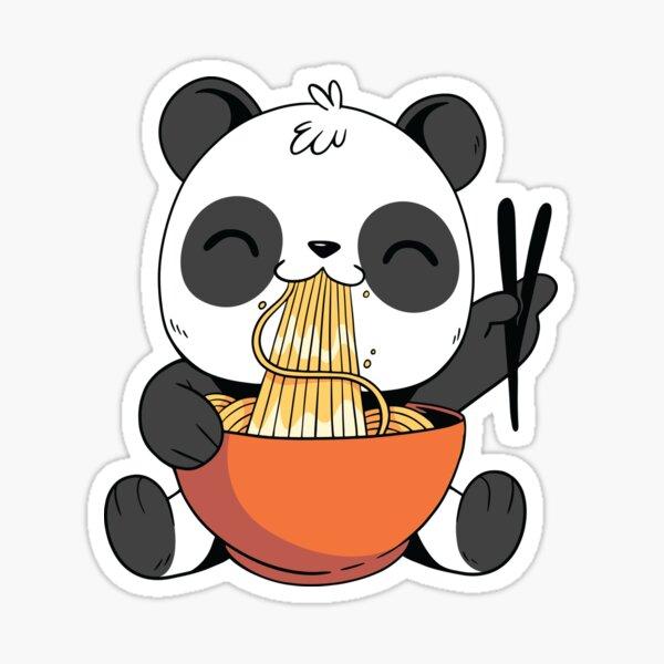 Cute Panda Eating Ramen Sticker