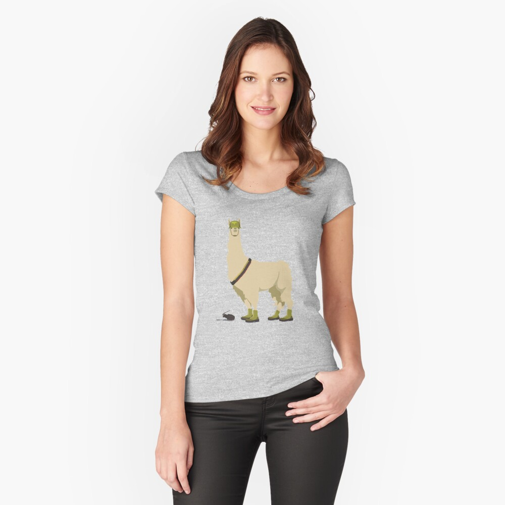 Llamageddon Women's Fitted Scoop T-Shirt Front