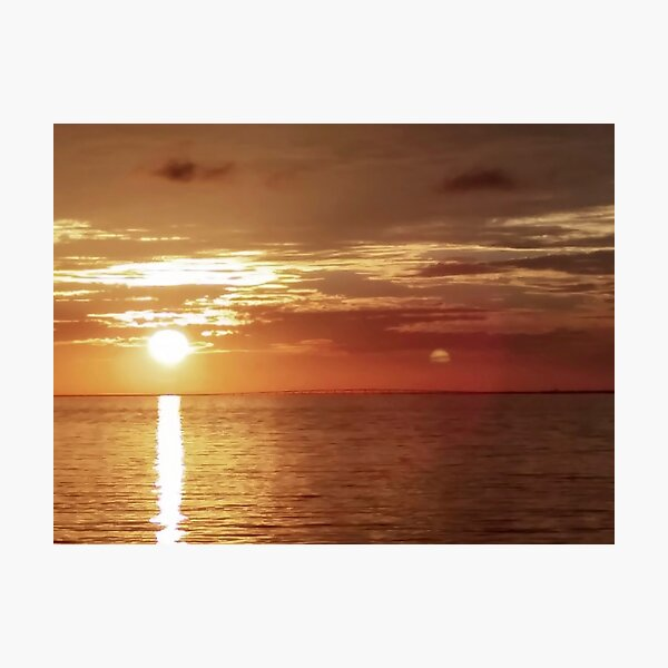 Planet of the Double Sun Photographic Print