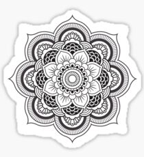 B&W mandala 2.0 Sticker