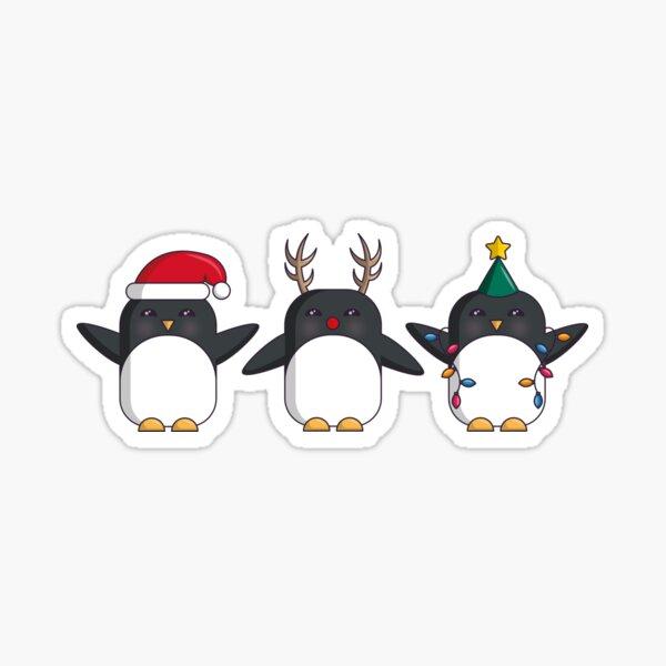 Penguin Costume Party Sticker