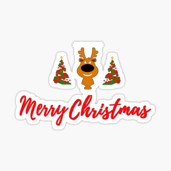 Merry Reindeer Sticker