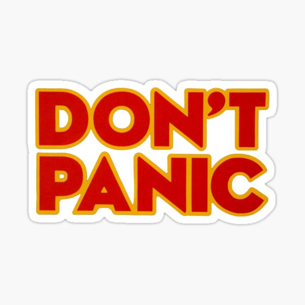 Don/'t Panic Towel Decal Hitchhiker/'s Guide To The Galaxy Movie vinyl sticker