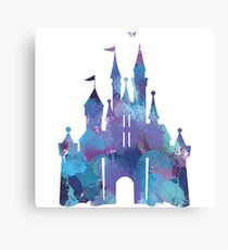 Splatter Paint Castle Canvas Print
